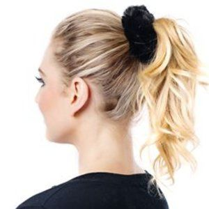 Fabulous Furs Black Vegan Faux Fur Scrunchie
